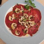  crpaccio  of beef