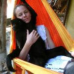  Hanging out with on of the local Spider Monkeys &quot;Wara&quot;