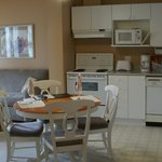 Kitchen & partial sitting area