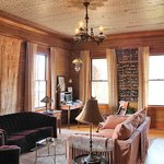 I loved the ceiling in this room, it has the original wallpaper from the 1800's on it.  Gorgeous
