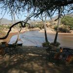 Bush breakfast along the Ewaso River