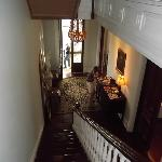  View from the top of the stairs