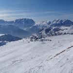 view of Alpe d'Huez from the slopes
