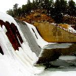  spillway of the evergreen dam