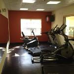 This is the newly remodeled fitness center.