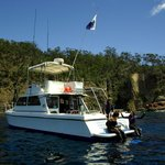Underwater Adventures &#39;Kahala&#39; is an ideal boat for a comfortable and relaxed day in and on the