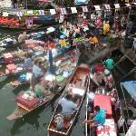 Boats selling their wares