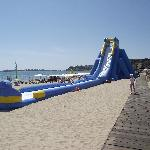 slide for the children on the beach near the hotel Calypso