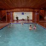 Enjoy a swim in our indoor pool!