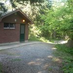 restrooms at Blackwoods Campground
