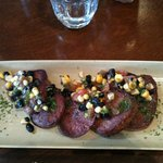Grilled Ox Tongue with Black Bean Salsa