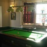 pool table and jukebox