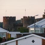 View of the Conwy city walls from our room