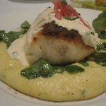 Striped Sea Bass w/ Rosemary Polenta & Watercress