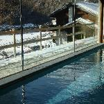  La piscina con vista neve!