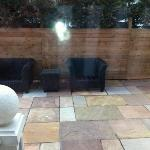 the outside terrace for McCallum, not for use in February in Scotland - too cold!