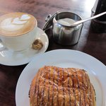 Fantastic cappuccino with pain au chocolat