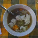 Dumpling soup served at Yeti hotel