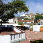 View form the roof terrace looking towards the Santa Domingo church