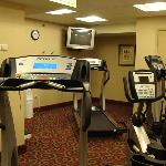  Small, but adequte and well equipped fitness room