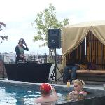 Pool and DJ at happy Hour