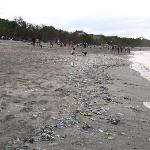 The not-very-clean beach of Kuta