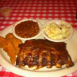 Baby Back Ribs with Fried Catfish