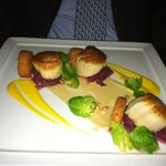 Scallop entree at Deuxave-perfect! 1-28-12