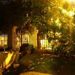  Pewman Che, entry garden at night
