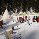  On the &quot;piste des indiens&quot; - a recreated Native American village - great fun for children!