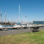 Yachts near the Steampacket Gardens in Geelong