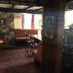 The bar with log fire