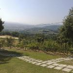 il panorama dal bed and breakfast