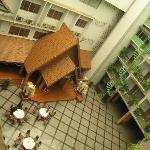 Looking from our floor to the second atrium with the Karaoke Bar and the Massage parlour to the