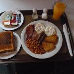  the breakfast served in your room!very good