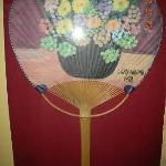  fan with handpainted flowers by the late Pres. Cory Aquino