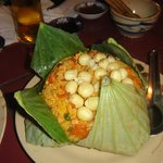 Special fried rice with lotus seeds...the best.