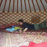 the kids in the yurt