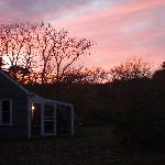 Sunsets can be spectacular from Gull Cottage.