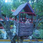 Fun Tree House for Kids in the Courtyard