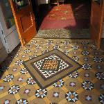  Tessilated tiled floor at front entry
