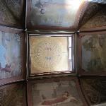  Painted fresco on dome ceiling