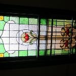  One of the leadlight windows