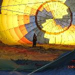  Pilot Prepares Balloon