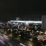  Night view of Gifu Eki from hotel room.