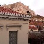 View of the Acropolis from my balcony.