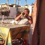 Light house trumpet player
