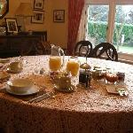 Delicious breakfasts served in our South facing dining room