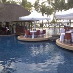 restaurant is over the pool - nice!