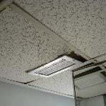 more of the damaged dropped ceiling